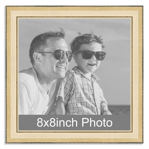 Gold Wooden Photo Frame for a 8x8in Photo