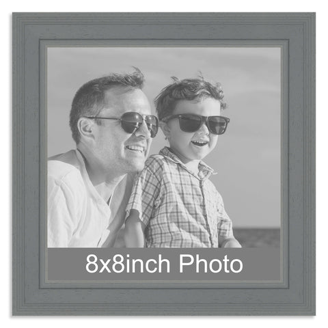 Grey Wooden Photo Frame for a 8x8in Photo