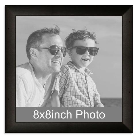 Black Wooden Photo Frame for a 8x8in Photo