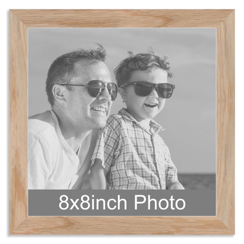 Solid Oak Wooden Photo Frame for a 8x8in Photo