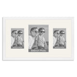 White Wooden Multi Aperture Photo Frame for a 8x6/6x8in & two 6x4/4x6in Photos