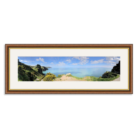 Mahogany & Gold Wooden Panoramic Photo Frame for a 20x5/5x20in Photo [4:1 Ratio]