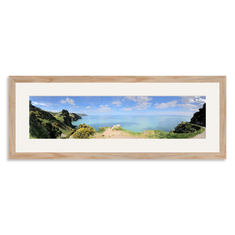 Solid Oak Panoramic Photo Frame for a 20x5/5x20in Photo [4:1 Ratio]