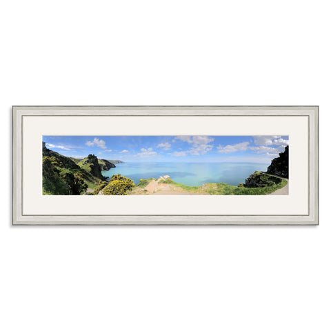 Silver Wooden Panoramic Photo Frame for a 20x5/5x20in Photo [4:1 Ratio]