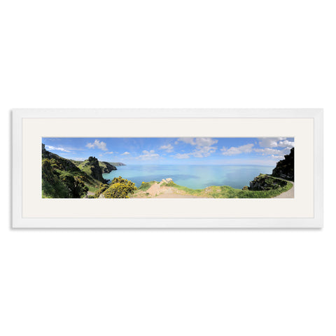 White Wooden Panoramic Photo Frame for a 20x5/5x20in Photo [4:1 Ratio]