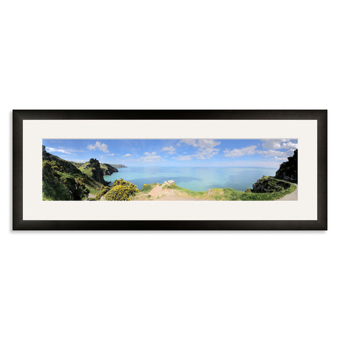 Black Wooden Panoramic Photo Frame for a 20x5/5x20in Photo [4:1 Ratio]