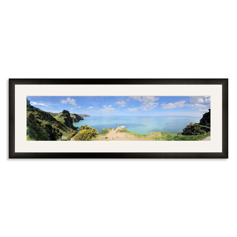 Black Wooden Panoramic Photo Frame for a 24x6/6x24in Photo [4:1 Ratio]