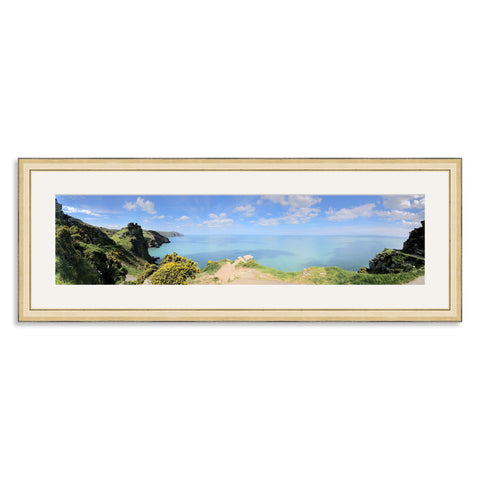 Gold Wooden Panoramic Photo Frame for a 24x6/6x24in Photo [4:1 Ratio]