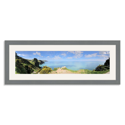 Grey Wooden Panoramic Photo Frame for a 24x6/6x24in Photo [4:1 Ratio]