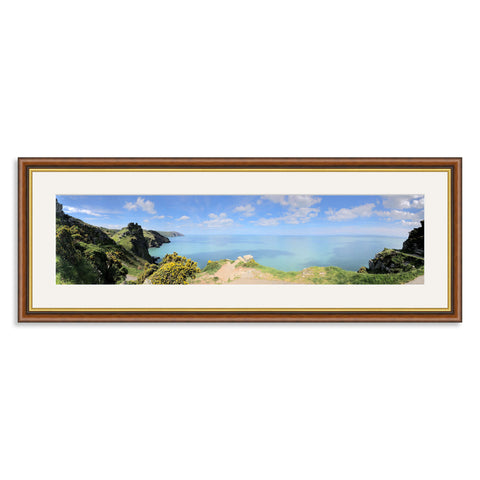 Mahogany and Gold Wooden Panoramic Photo Frame for a 24x6/6x24in Photo [4:1 Ratio]