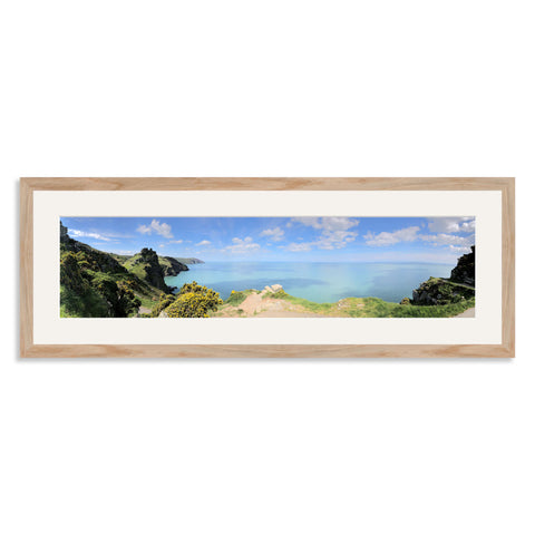 Solid Oak Panoramic Photo Frame for a 24x6/6x24in Photo [4:1 Ratio]