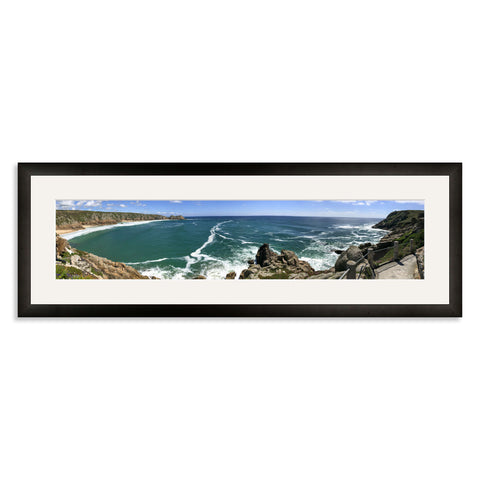 Black Wooden Panoramic Photo Frame for a 22.5x5/5x22.5in Photo [9:2 Ratio]