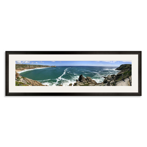 Black Wooden Panoramic Photo Frame for a 27x6/6x27in Photo [9:2 Ratio]