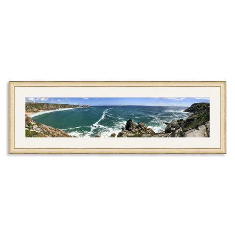 Gold Wooden Panoramic Photo Frame for a 27x6/6x27in Photo [9:2 Ratio]