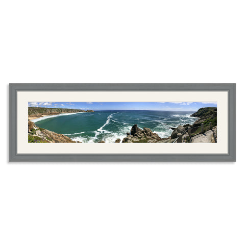 Grey Wooden Panoramic Photo Frame for a 27x6/6x27in Photo [9:2 Ratio]