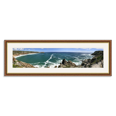 Mahogany and Gold Wooden Panoramic Photo Frame for a 27x6/6x27in Photo [9:2 Ratio]