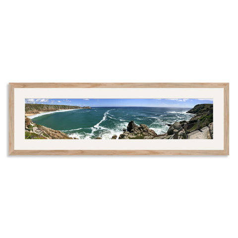 Solid Oak Wooden Panoramic Photo Frame for a 27x6/6x27in Photo [9:2 Ratio]