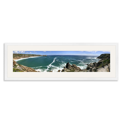 White Wooden Panoramic Photo Frame for a 27x6/6x27in Photo [9:2 Ratio]