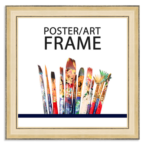 8 x 8inch Gold Wooden Poster / Art Frame with real Picture Glass