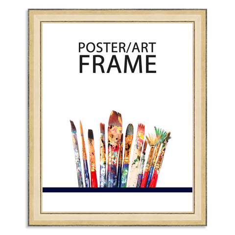 24 x 30cms Gold Wooden Poster / Art Frame with real Picture Glass