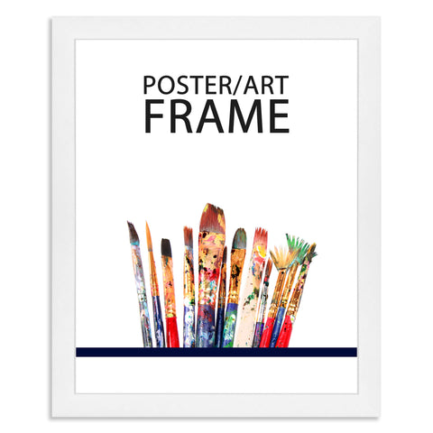 24 x 30cms Matt White Poster / Art Frame with real Picture Glass