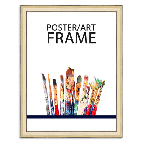 30 x 40cms Gold Wooden Poster / Art Frame with real Picture Glass