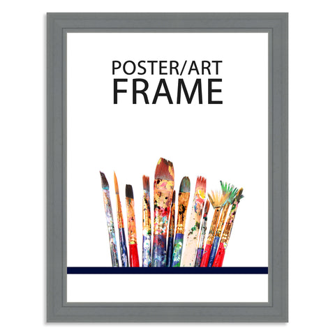 30 x 40cms Grey Wooden Poster / Art Frame with real Picture Glass