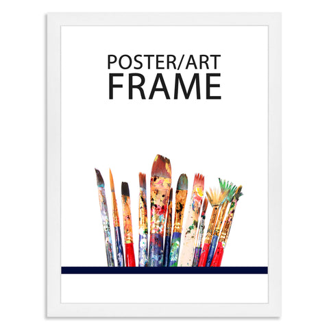 30 x 40cms Matt White Poster / Art Frame with real Picture Glass