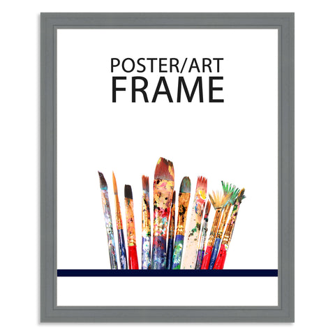 40 x 50cms Grey Wooden Poster / Art Frame with real Picture Glass
