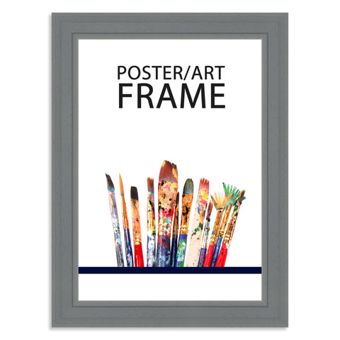 210 x 297mm A4 Grey Wooden Poster / Art Frame with real Picture Glass