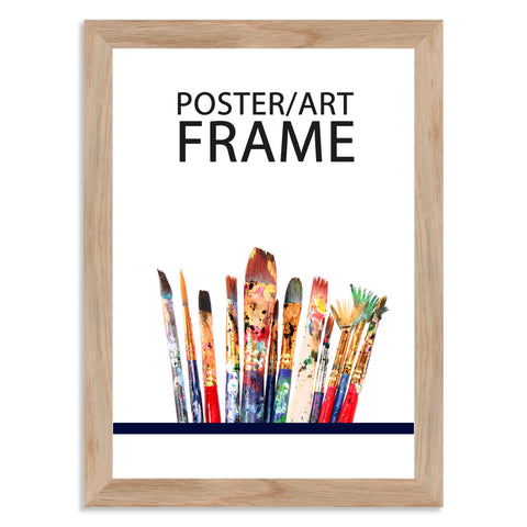 210 x 297mm A4 Solid Oak Poster / Art Frame with real Picture Glass