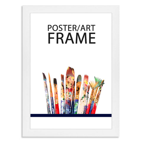 210 x 297mm A4 Matt White Poster / Art Frame with real Picture Glass