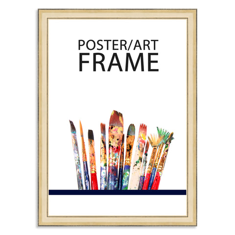 297 x 420mm A3 Gold Wooden Poster / Art Frame with real Picture Glass
