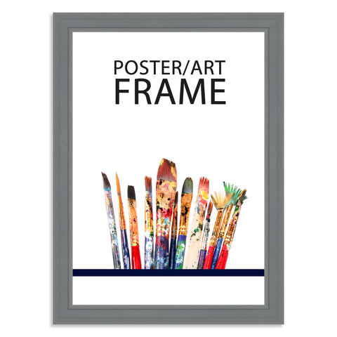 297 x 420mm A3 Grey Wooden Poster / Art Frame with real Picture Glass