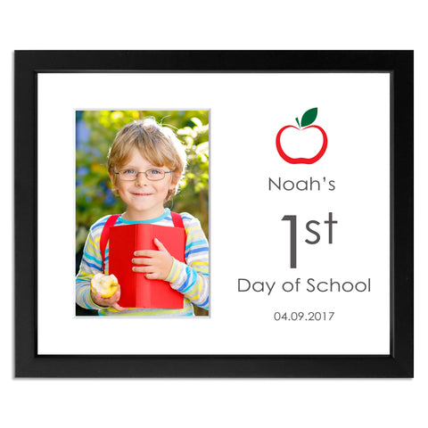 Black First Day of School/Back to School Photo Frame for 6x4inch photo