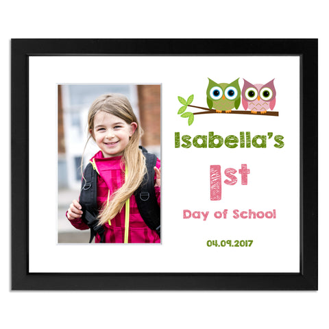 Personalised First Day Of Schoolback To School Photo Frame With Owl M