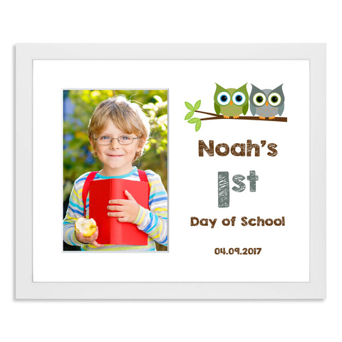 Personalised First Day of School/Back to School Photo Frame with Owl M