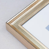 Gold Wooden Multi Aperture Photo Frame for Three 8x6/6x8in Photos (plp)