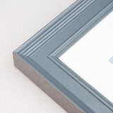 18 x 24cms Grey Wooden Poster / Art Frame with real Picture Glass