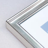 12 x 18inches Silver Wooden Poster / Art Frame with real Picture Glass