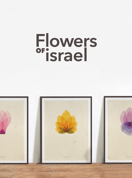 Flowers of Israel | 3 prints set