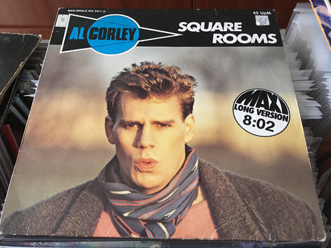 "Al Corley - Square Rooms 12"" Maxi-Single 45rpm (Out Of Print) (Graded:EX/EX)"