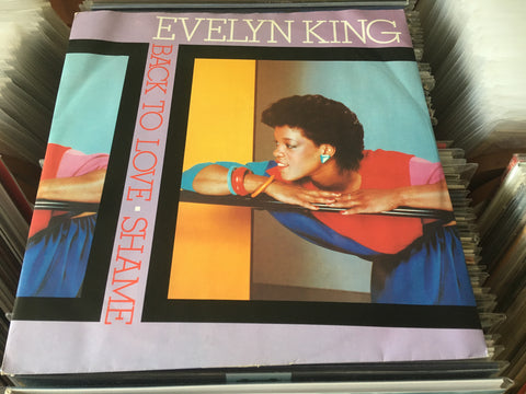 "Evelyn King ‎– Back To Love / Shame 12"" Single 45rpm (Out Of Print) (Graded:NM/EX)"