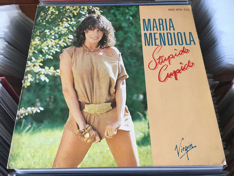 "Maria Mendiola ‎– Stupid Cupid 12"" Maxi-Single 45rpm (Out Of Print) (Graded:NM/NM)"