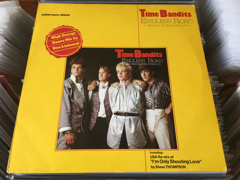 "Time Bandits ‎– Endless Road (High Energy Dance Mix) 12"" Maxi-Single 45rpm (Out Of Print) (Graded:NM/NM)"