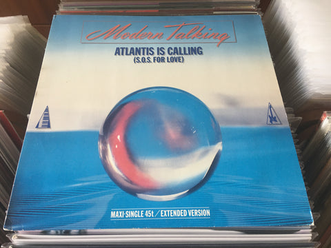 "Modern Talking ‎– Atlantis Is Calling (S.O.S. For Love) (Extended Version) 12"" Maxi-Single 45rpm (Out Of Print) (Graded:NM/EX)"
