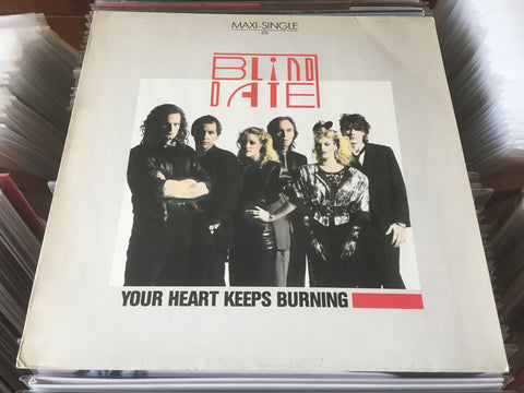 "Blind Date ‎– Your Heart Keeps Burning 12"" Maxi-Single 45rpm (Out Of Print) (Graded:NM/EX)"