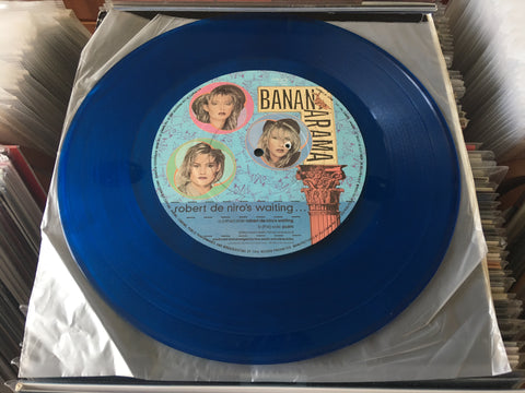 "Bananarama ‎– Robert De Niro's Waiting... 12"" Blue Translucent Single 45rpm (Out Of Print) (Graded:Generic/EX)"