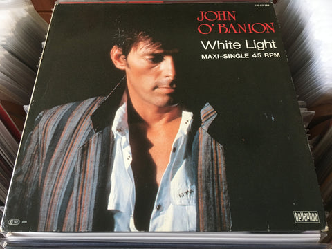 "John O'Banion ‎– White Light (Hakkenshi's Theme) 12"" Maxi-Single 45rpm (Out Of Print) (Graded:NM/NM)"