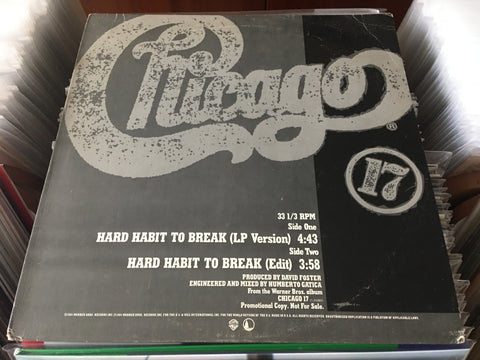"Chicago - Hard Habit To Break 12"" Promo Single 33⅓rpm (Out Of Print) (Graded:NM/NM)"